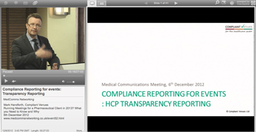 Webcast: Compliance Reporting for events: Transparency Reporting