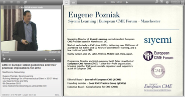 Webcast: CME in Europe: latest guidelines and their practical implications for 2013